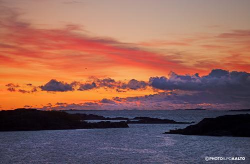 Merimaisema Utössä illalla